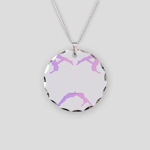 TUMBLE WHITE Necklace Circle Charm