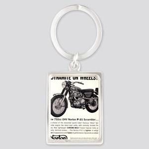 1967 Norton Dynamite Motorcycle  Portrait Keychain