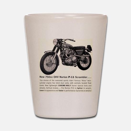 1967 Norton Dynamite Motorcycle P-11 Sc Shot Glass