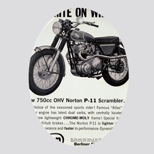 1967 Norton Dynamite Motorcycle P-11 Oval Ornament