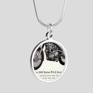 1967 Norton Dynamite Motorcy Silver Round Necklace