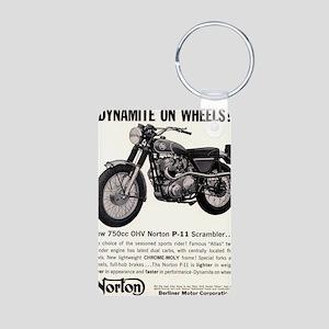 1967 Norton Dynamite Motor Aluminum Photo Keychain