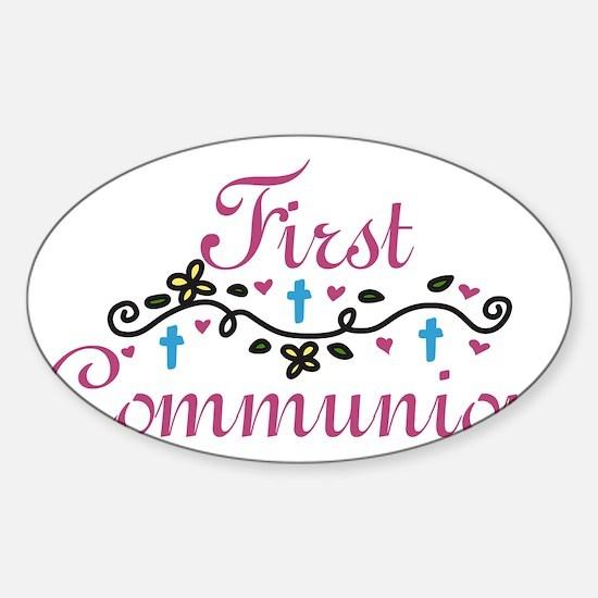 First Commuinion Sticker (Oval)