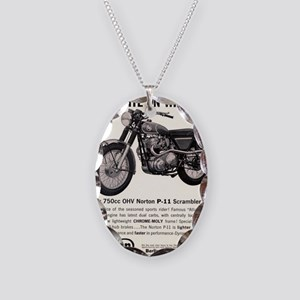 1967 Norton Dynamite Motorcycl Necklace Oval Charm