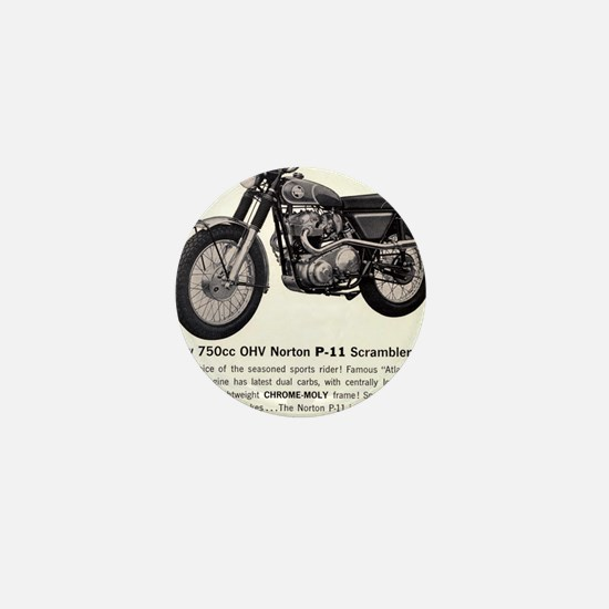 1967 Norton Dynamite Motorcycle P-11 S Mini Button