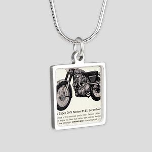 1967 Norton Dynamite Motor Silver Square Necklace
