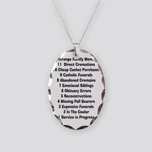 12 days of funeral home Necklace Oval Charm