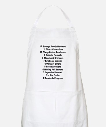 12 days of funeral home Apron