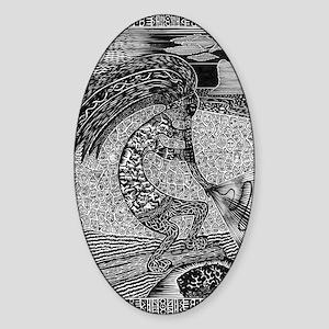 Kokopelli Sticker (Oval)