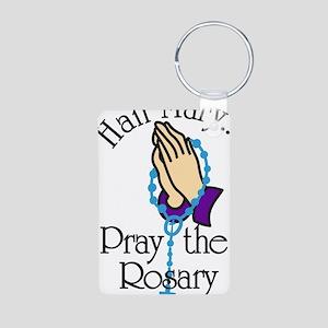 Pray The Rosary Aluminum Photo Keychain