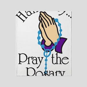 Pray The Rosary Throw Blanket