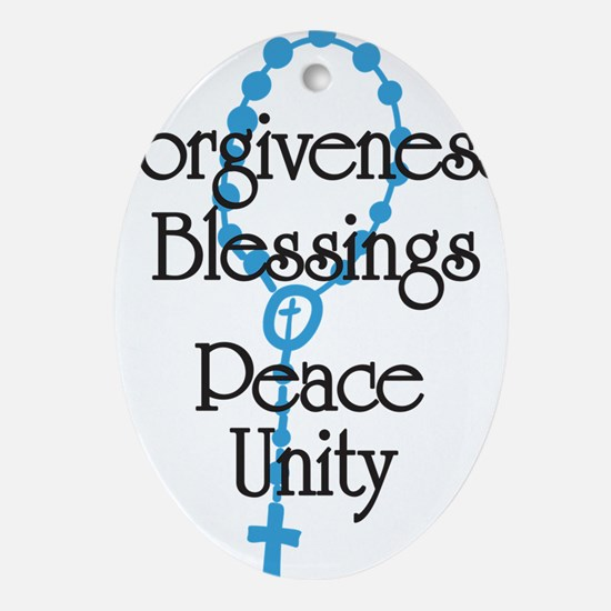 Forgiveness Oval Ornament