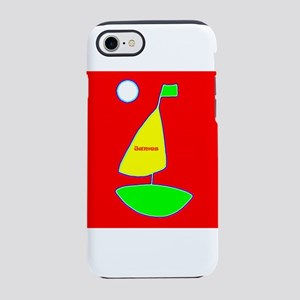 Sailing Sailboat James Red Des iPhone 7 Tough Case