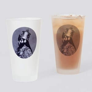 HaileSillassieandFirstLady Drinking Glass