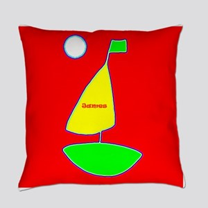 Sailing Sailboat James Red Designe Everyday Pillow
