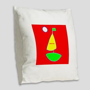 Sailing Sailboat James Red Des Burlap Throw Pillow