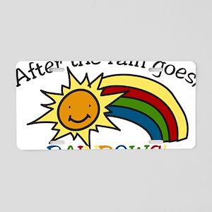 Rainbows Aluminum License Plate