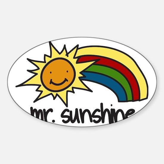 Mr. Sunshine Sticker (Oval)