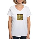 Celtic Letter R Women's V-Neck T-Shirt