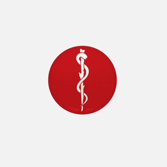 Rod of Asclepius Seal Mini Button