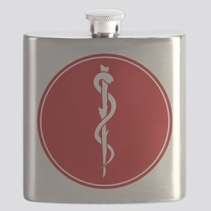 Rod of Asclepius Seal Flask