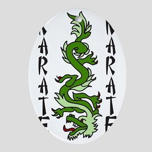 Karate Oval Ornament
