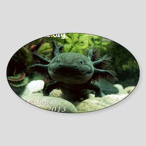 Axolotl Sticker (Oval)