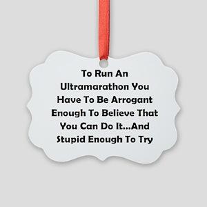 Ultramarathon Saying Picture Ornament
