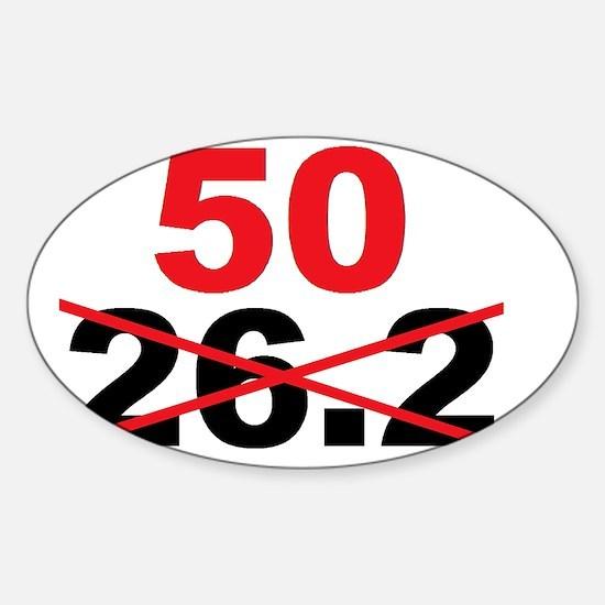Beyond the Marathon - 50 Mile Ultra Sticker (Oval)