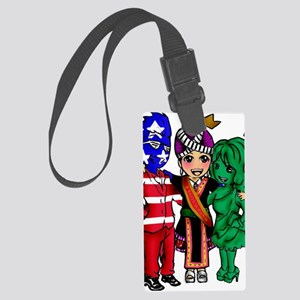 Miss Hmong Wisconsin Large Luggage Tag