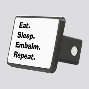 eat sleep embalm Rectangular Hitch Cover