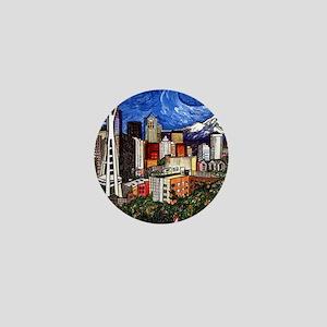 Seattle Skyline Mini Button