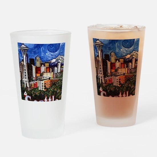 Seattle Skyline Drinking Glass