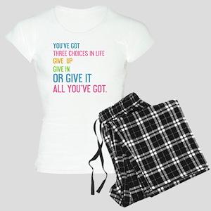 card youve got three choice Women's Light Pajamas