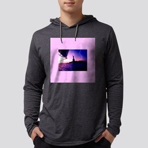 NYC Statue of Liberty Lighteni Long Sleeve T-Shirt