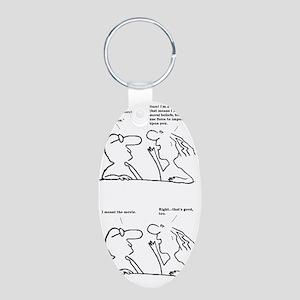 Friendly Persuasion Aluminum Oval Keychain
