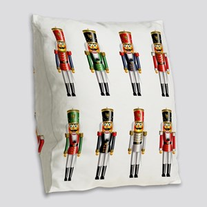 Nutcrackers Burlap Throw Pillow
