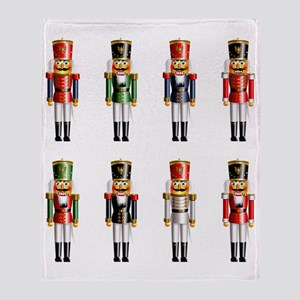 Xmas_NutCrackers Throw Blanket