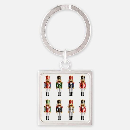 Xmas_NutCrackers Square Keychain