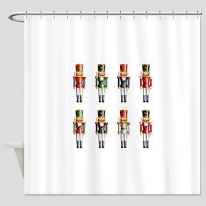 Xmas_NutCrackers Shower Curtain