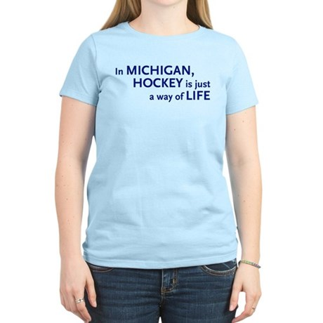 Hockey Michigan Women's Light T-Shirt