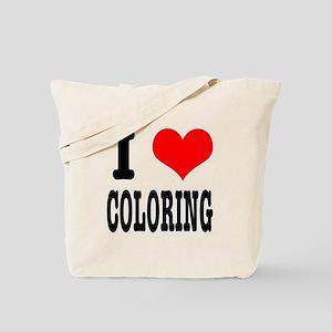 I Heart (Love) Coloring Tote Bag