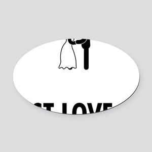 Married-ABO1 Oval Car Magnet