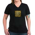 Celtic Letter O Women's V-Neck Dark T-Shirt