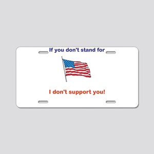 Athletes - Respect our American Flag Aluminum Lice