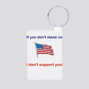 Athletes - Respect our American Flag Keychains