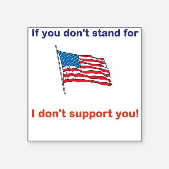 Athletes - Respect our American Flag Sticker