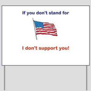 Athletes - Respect our American Flag Yard Sign