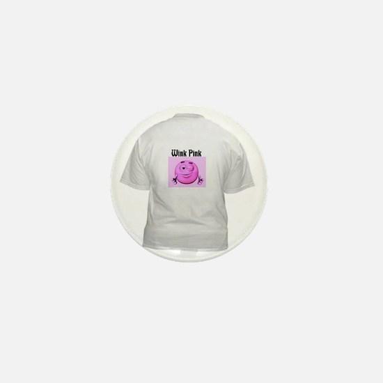 Wink Pink Mini Button
