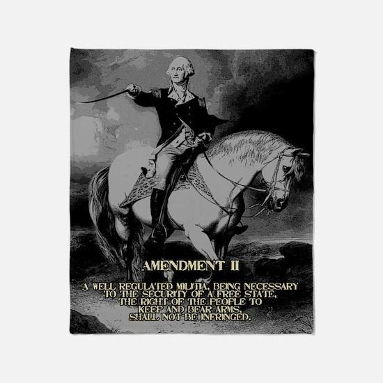 George Washington 2nd Amendment Throw Blanket